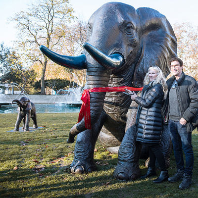 20 Baby Orphan Elephants have appeared in the heart of London