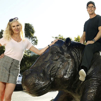 Gillie and Marc's giant hippo wins two major Bayside Arts Festival awards