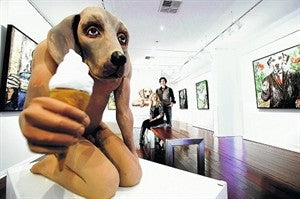 Canine art is doggone