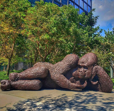 King Nyani, the Largest Bronze Gorilla Statue Arrives in NYC
