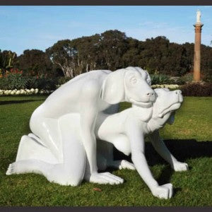 Image result for statues of dogs having sex