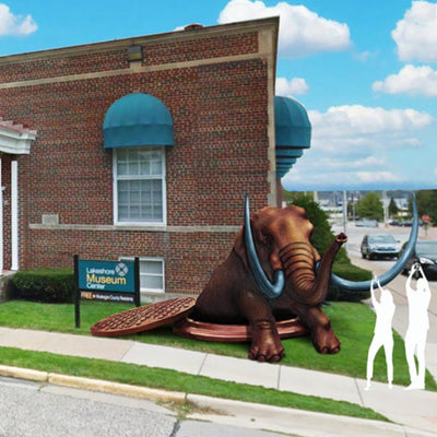 Mastodons on the Loose: How a new public art project is connecting Muskegon to its history—and future