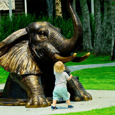 Come out, come out Elephant, wherever you are - Sculptureum, Auckland, NZ