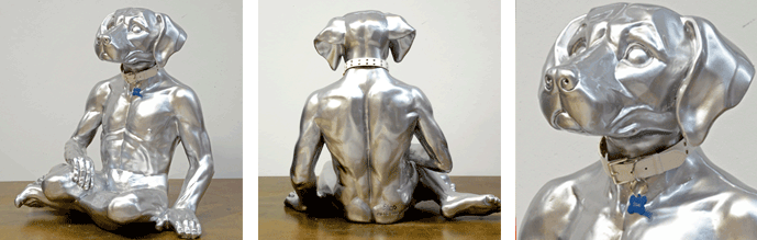 lost-dog-silver-sculpture