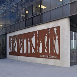 Camden Council Relief (Corten Steel Sculpture)