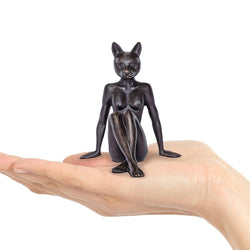 Catwoman thought a pear in the hand is worth two in the bush (Bronze Sculpture)