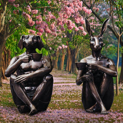 Coffee Friends (Bronze Sculpture)