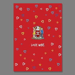 Love Wins (Enamel Pin) + Postcard