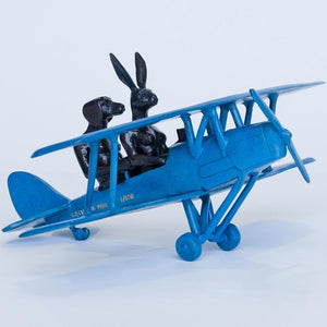They were flying high (Tiger Moth Plane Miniature)