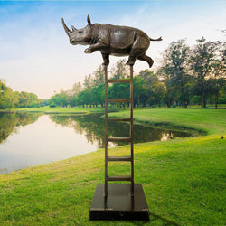Rhino reaches new heights above it all