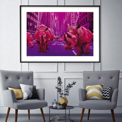 Rush hour in pink (Print)