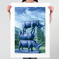 The last three in blue (Print)
