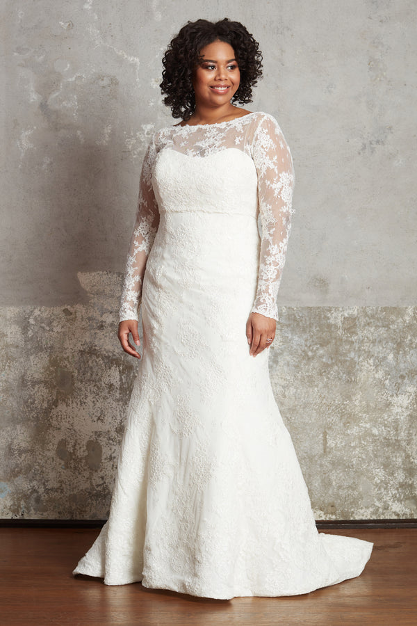 The Lillian Gown - Long-Sleeve Lace Topper
