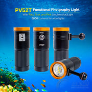 DIVEVOLK SeaTouch 3 PRO Dive Light and Float Arm Kit/ underwater phone diving housing kits including Float Arm and 5000 Lumen dive light for iPhone / Huawei / Samsung