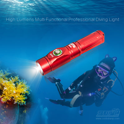 Scubalamp 1200lm Dive Light RD80 Beam Angle 15° For Underwater Photography