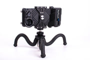Underwater Flexible Tripod with balance weight block for smartphone housing, also can be used on land