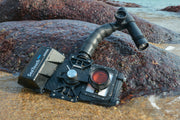 SeaTouch 3 PRO Macro Photography Kit underwater phone diving housing including micro lens , 1200 Lumen dive light and flexible arm for iPhone/ Huawei / Samsung