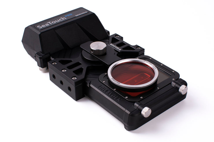 DIVEVOLK SeaTouch 3 PRO Expansion Clamp and Red Filter Kit/ underwater phone diving housing for iPhone /Huawei / Samsung