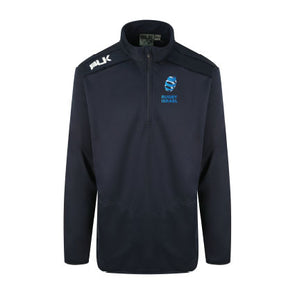 Rugby Israel Elite Qtr Zip Top - Navy