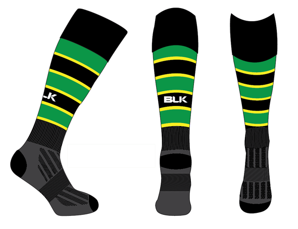 Jamaica rugby socks - Black/Green/Yellow