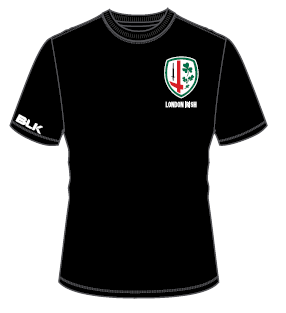 London Irish Cotton Tee - Black