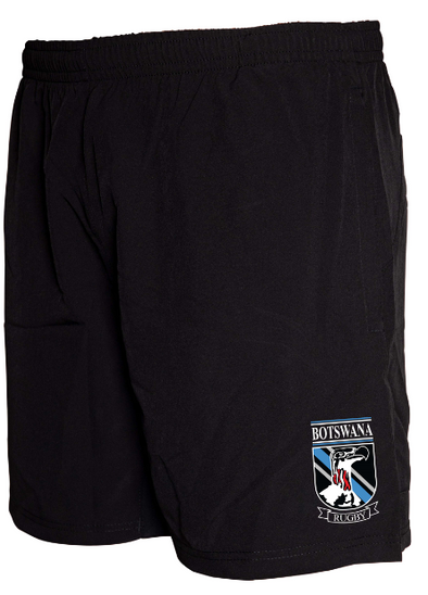 "Botswana Rugby Tek VI 8"" Gym Shorts - Black"