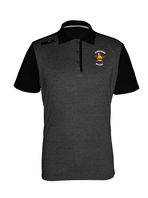 Zimbabwe Lifestyle Polo - Charcoal