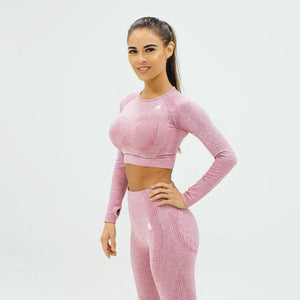 Flex Seamless Crop|Pink
