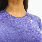 Flex Seamless Crop|Purple - Fitness Elite