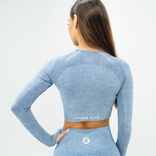 Load image into Gallery viewer, Flex Seamless Long Sleeve Crop - Gray