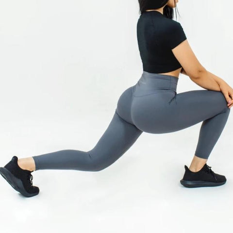 Elite Seamless 7/8 Leggings|Charcoal - Fitness Elite
