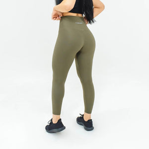 Elite Seamless 7/8 Leggings- Army Green