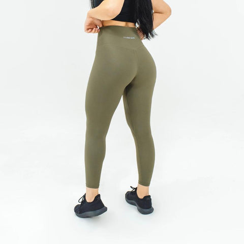 Elite Seamless 7/8 Leggings|Army Green - Fitness Elite