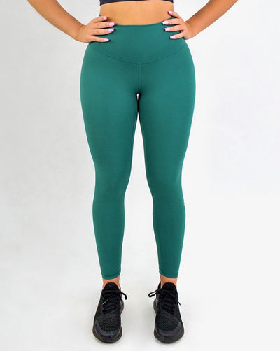 Elite Seamless 7/8 Leggings|Emerald