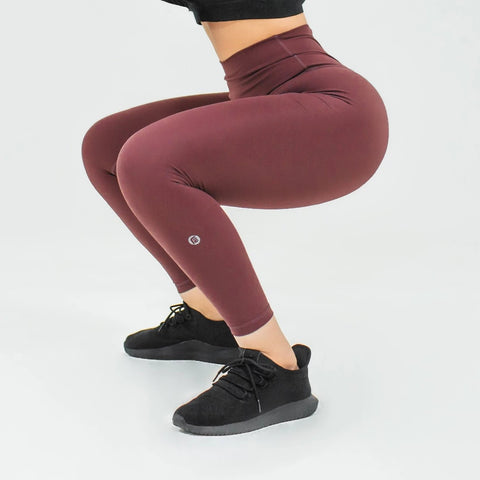Elite Seamless 7/8 Leggings|Plum - Fitness Elite