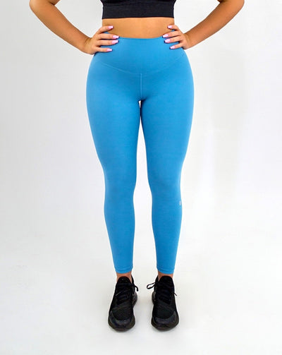 Elite Seamless 7/8 Leggings|Aqua