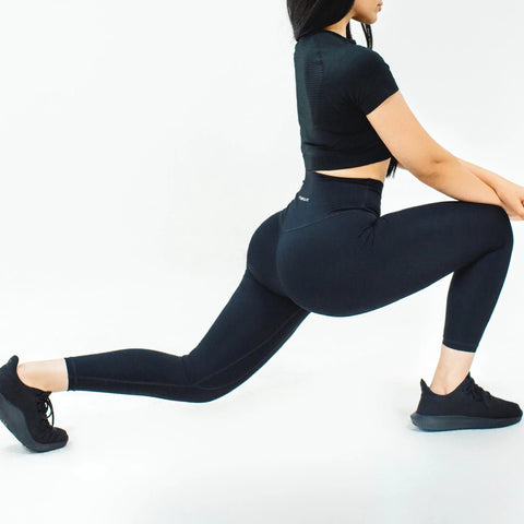 Elite Seamless 7/8 Leggings|Black - Fitness Elite