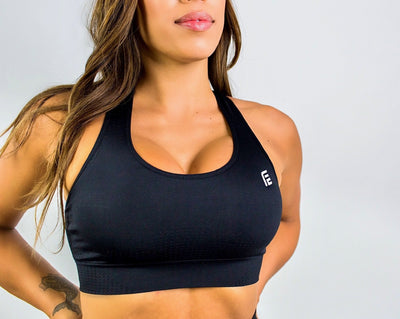 Flex Seamless Sports Bra|Black