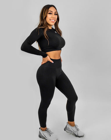 Flex Seamless Leggings|Black