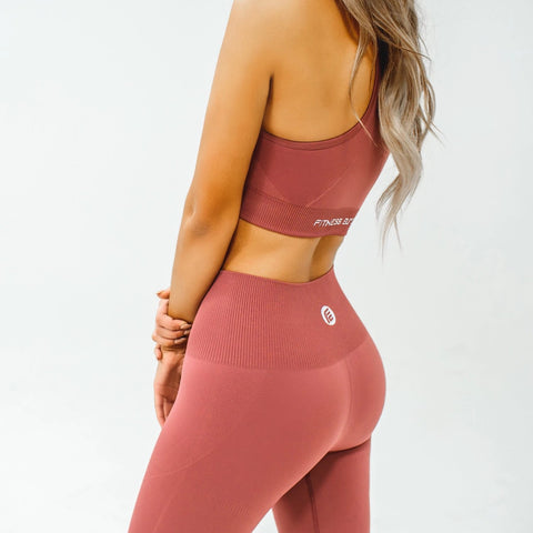 Energy Seamless Top|Deep Coral - Fitness Elite