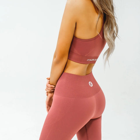 Energy Seamless Leggings|Deep Coral - Fitness Elite