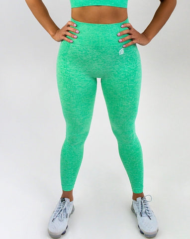 Flex Seamless Leggings|Green