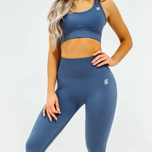 Energy Seamless Sports Top - Smoke Gray
