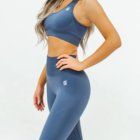 Energy Seamless Top|Smoke Gray - Fitness Elite