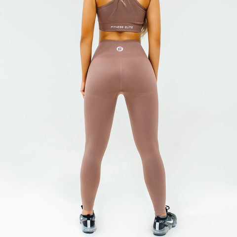 Energy Seamless Leggings|Desert Sand - Fitness Elite