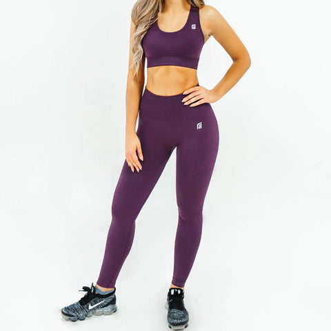 Energy Seamless Leggings|Amethyst Purple - Fitness Elite