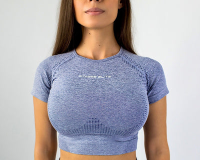 Flex Seamless Crop Shirt|Gray
