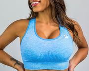 Flex Seamless Sports Bra|Blue