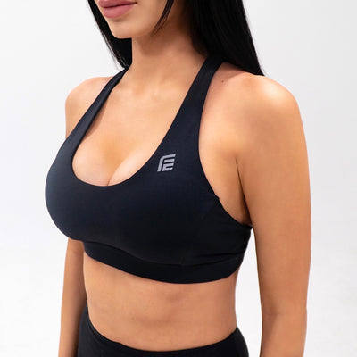 Jungle Queen Fierce Seamless Sports Bra|Black