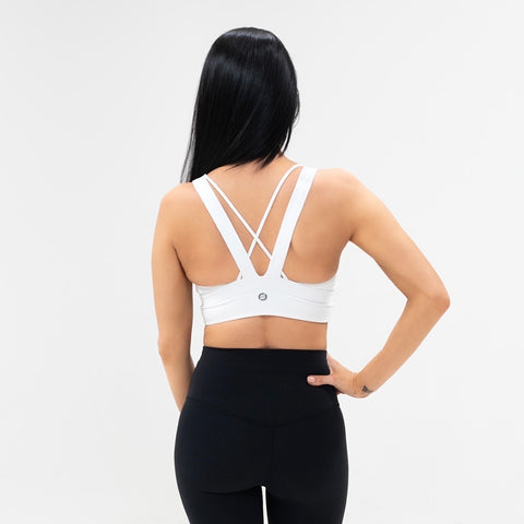 WILD Fierce Seamless Sports Bra|White